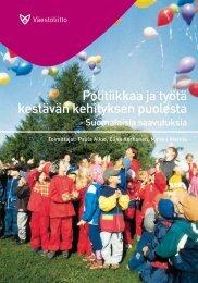 Politiikkaa ja työtä kestävän kehityksen puolesta - Väestöliitto