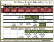 Fun, Fitness & Family Schedule July 2012 - Stowe Mountain Lodge