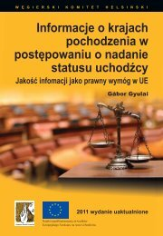 COI in Asylum-PL.indd - International Association of Refugee Law ...