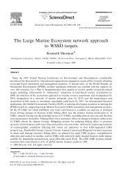 The Large Marine Ecosystem network approach to WSSD targets
