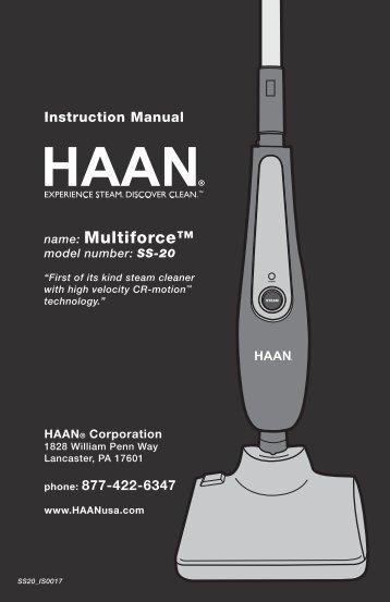 SS20 - HAAN Multiforce User Manual