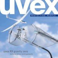 uvex RX gravity zero Katalog - UVEX SAFETY