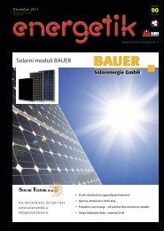 Solarni moduli BAUER - Revija Energetik