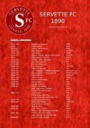Tout les entraineur du Servette FC - Super Servette