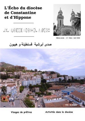 echo electronique mars avril 2010 - Église Catholique d'Algérie