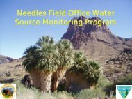 Needles Field Office Water Source Monitoring Program - Desert ...