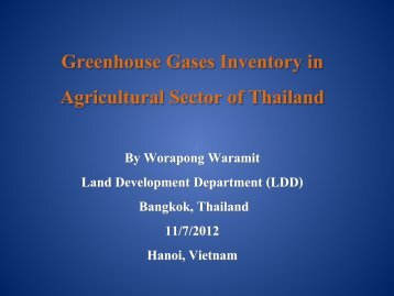 Greenhouse Gases Inventory in Agricultural Sector of Thailand - GIO ...