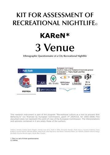 KAReN Venue Questionnaire - Irefrea