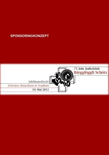 SPONSORINGKONZEPT - Jodlerklub-Schötz