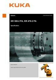 KR 300-2 PA, KR 470-2 PA - KUKA Robotics