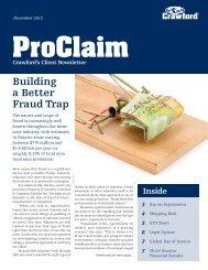 ProClaim - December 2012 - Crawford & Company