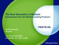 The Next Generation of Biofuels - Low Carbon Fuels Conference ...