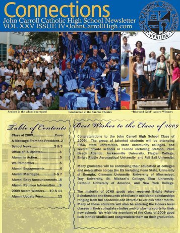 Summer 2009 Newsletter - John Carroll Catholic High School