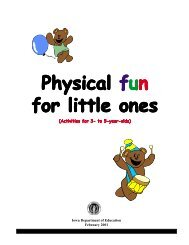Physical Fun for Little Ones - Iowa Department of Education