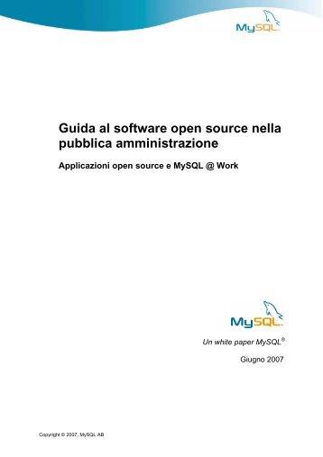 Guida al software open source nella pubblica amministrazione