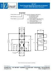 527-277 Feed through Backshell Assembly & Adapters - Glenair, Inc.