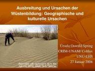 Ausbreitung und Ursachen der Wüstenbildung: Geographische und ...