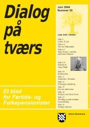 Et blad for Førtids- og Folkepensionister - Greve Kommune
