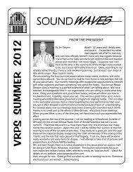 soundwaves vrps summer 2012 - Vintage Radio and Phonograph ...