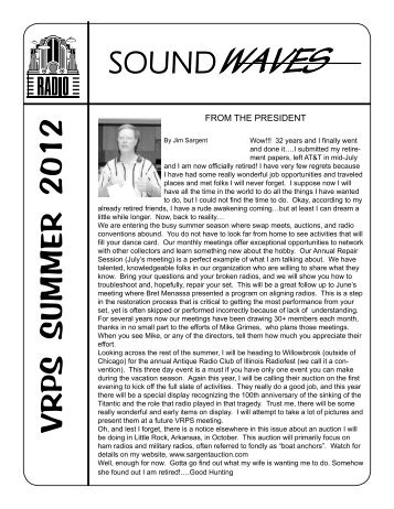 soundwaves vrps summer 2012 - Vintage Radio and Phonograph ...