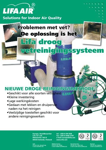 Lifa droog vetreinigingssysteem - Lifa.net