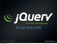 jQuery Mobile: For Fun and Profit