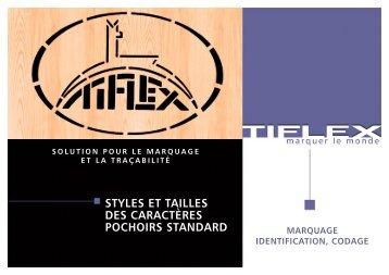 STYLES ET TAILLES DES CARACTÈRES POCHOIRS ... - Tiflex