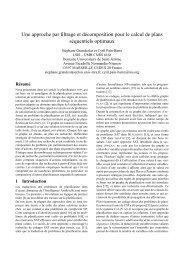 Une approche par filtrage et décomposition pour le calcul de ... - Inra