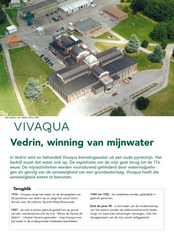 en behandelingsprocedé van het water in Vedrin ... - Vivaqua