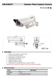CIR-VI96YP Number Plate Capture Camera - Zone Technology