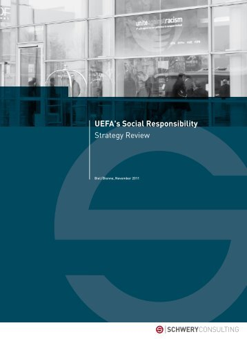 3. UEFA's social responsibility - SCHWERY CONSULTING