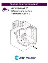 Hydrovex™ Régulateur à vortex commandé HHV-E