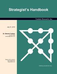 Strategist's Handbook - Dr. Ed Yardeni's Economics Network
