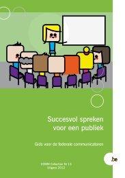 Succesvol spreken voor een publiek (PDF, 4.89 MB) - Fedweb