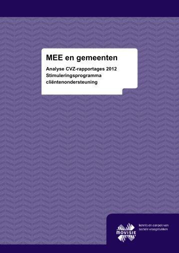 MEE en gemeenten - Invoering Wmo
