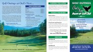 Golf Outings Guide - Owl's Nest Resort & Golf Club