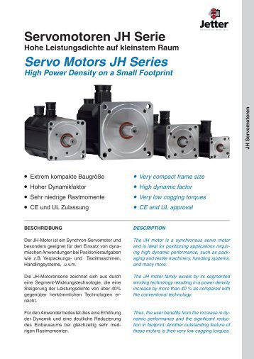 Servomotoren JH Serie Servo Motors JH Series - Esco Drives ...