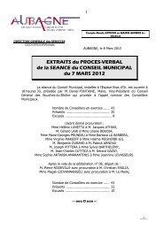 EXTRAITS du PROCES-VERBAL de la SEANCE du CONSEIL ...