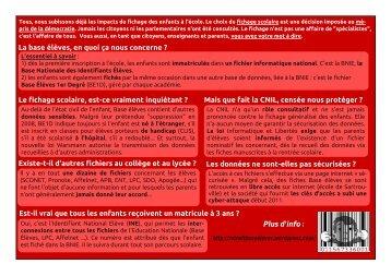 version PDF - Collectif national de résistance à Base élèves