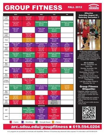 Printable Fall 12 Schedule - SDSU