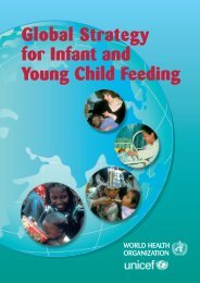 Young Child Feeding Global Strategy for Infant and - World Alliance ...