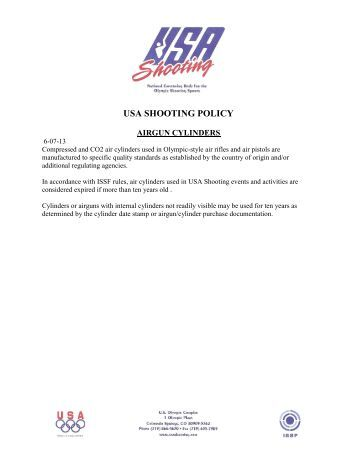 Air Cylinder Policy - USA Shooting