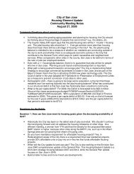 Housing Element Update Community Meeting Notes - City of San Jose