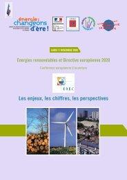 Energies renouvelables et directive européenne 2020 - Prebat