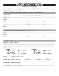 Registration forms - UMKC School of Dentistry