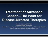 Treatment of Advanced Cancer—The Point for Disease-Directed ...