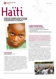 Fiche descriptive Haïti - Terre des Hommes Suisse