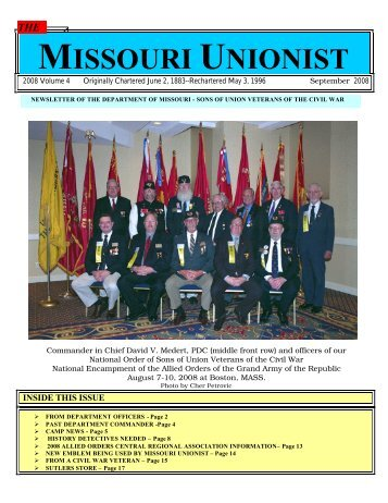 MISSOURI UNIONIST - Department of Missouri - SUVCW