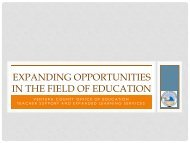EXPANDING OPPORTUNITIES IN THE FIELD OF EDUCATION