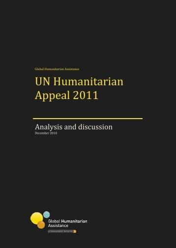 UN Humanitarian Appeal 2011 - Global Humanitarian Assistance